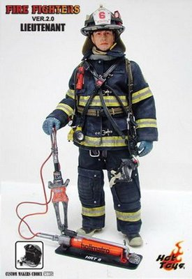 HOT TOYS 消防員 Fire Fighter V2.0 Lieutenant 浴火英雄 約翰屈伏塔 明星頭雕