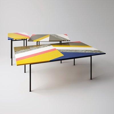 【品傢俱】近原裝 Moroso Fishbone│造型茶几 矮桌 和室桌│另有B&B,Poliform,Minotti