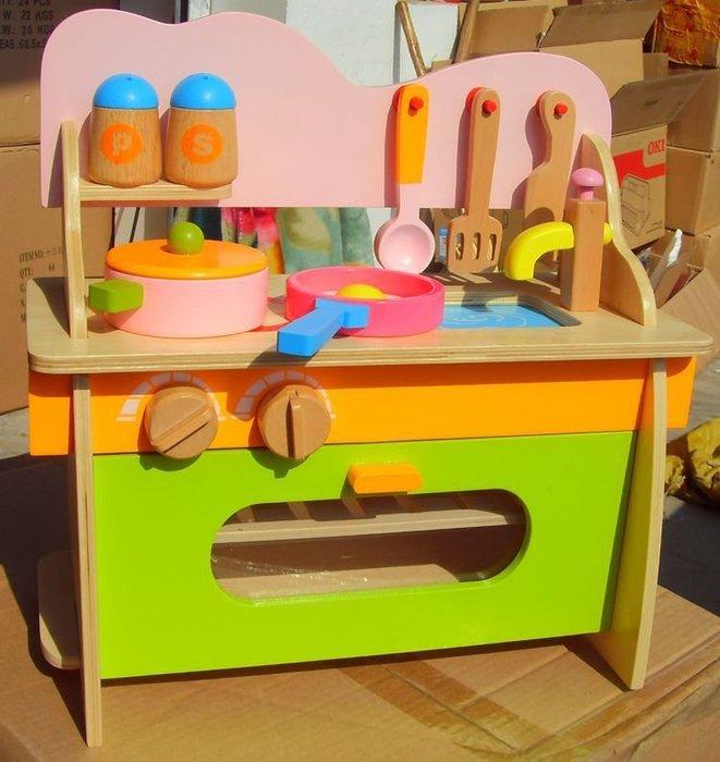 新款木製兒童家家酒 益智仿真廚房瓦斯爐台 玩具 廚具 家家酒工具 草莓熊雜貨店