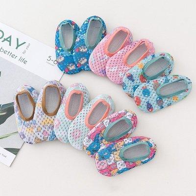 jessica韓國兒童地板襪防滑硅膠底室內防涼寶寶嬰兒春夏季薄款學步軟底襪子鞋