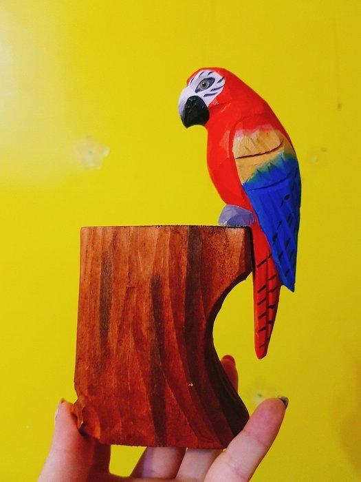 手工木雕動物筆筒-還有木雕筆喔-瑞豐夜市木雕夢工廠