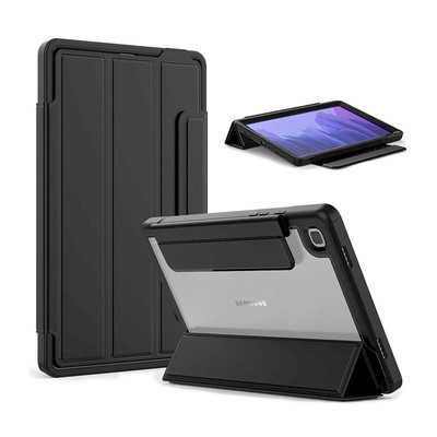 Samsung Galaxy Tab A7 10.4 2020 超薄保護套三折防撞翻蓋保護套支架筆槽透明背板皮套