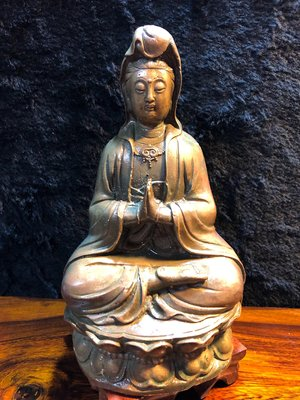 『華山堂』古董 文物 早期收藏 老件 銅製 觀音 觀世音菩薩 老件 老銅