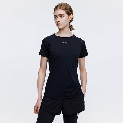 DESCENTE迪桑特 T新OUGH面料 女子新運動短袖針織T恤 D0132TTS31ax