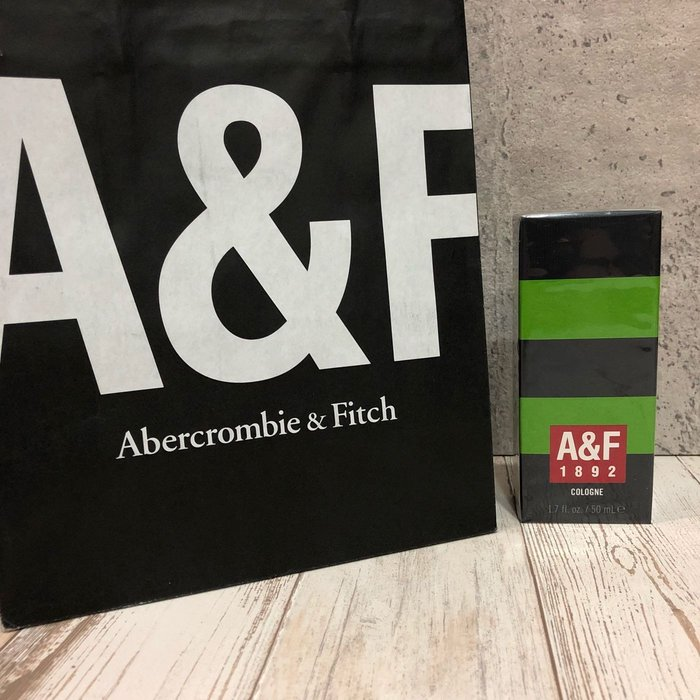 Maple麋鹿小舖 Abercrombie&Fitch * A&F1892 COLOGNE 男生古龍水-綠色50ml