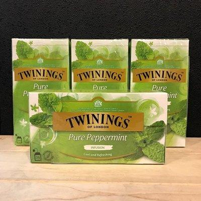 *卡拉拉咖啡精品*英國 TWININGS 唐寧茶 沁心薄荷茶 ( 2g×25入 )