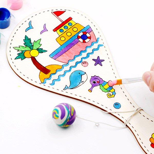 兒童DIY繪畫木質球拍材料包【JC3845】《Jami Honey》