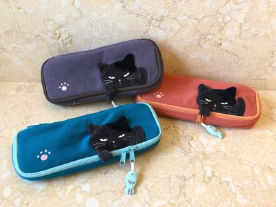 日本卡拉貓~酷酷貓防水長方形筆袋 工具包