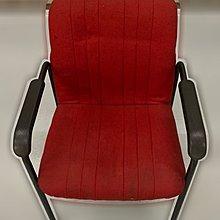 台中二手家具 大里宏品二手家具館 F112625*紅色洽談椅* 二手各式桌椅 中古辦公家具買賣 會議桌椅 辦公桌椅