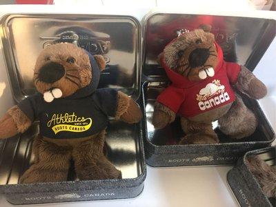 Roots beaver 海狸鐵盒組 10cm高海狸 鐵盒12x8 (紅售出)兩色 各1280