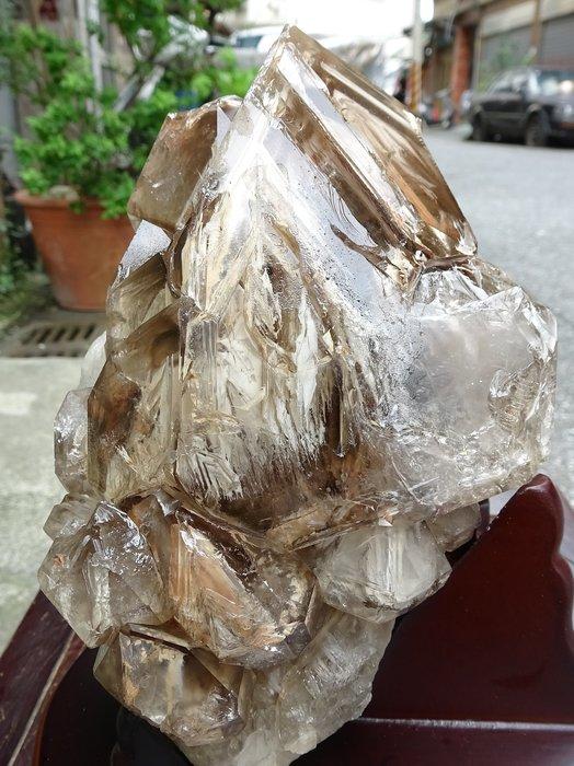 ~shalin-crystal~巴西鱷魚骨幹水晶~4.599公斤~完整度高~除穢聚氣~化煞聚財~低價起標!