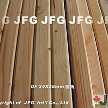 "JFG 木材批發 *【DF2x2""圓角角材】 34 x 40mm 木工DIY 角材 木條 扶手 欄杆 實木 花旗松 拼板"