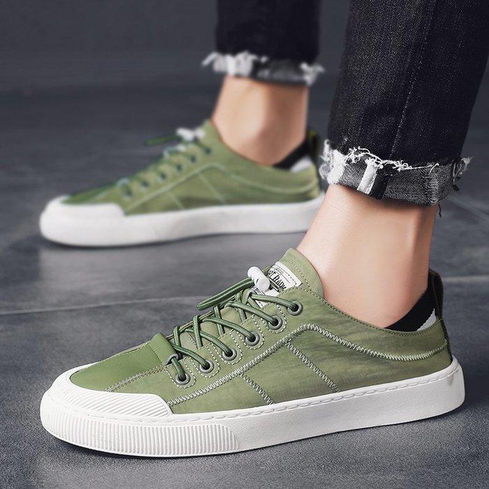 TIME&NES~男鞋夏季透氣帆布鞋男2020新款百搭網紅休閒鞋板鞋潮流低幫潮鞋男
