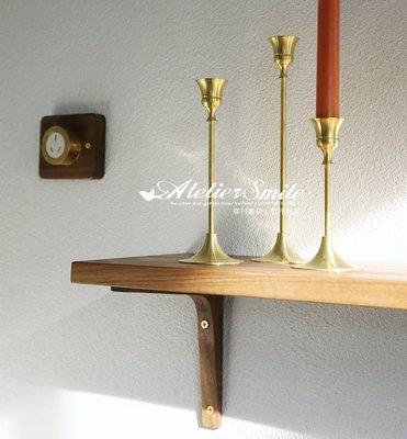 [ Atelier Smile ]  鄉村雜貨 紅橡木 黑胡桃木 手工訂製 層板 置物架 壁掛架130X20 # 含支架