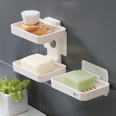【berry_lin107營業中】浴室吸盤皂盒衛生間創意肥皂架香皂盒壁掛式免打孔置物瀝水洗手臺