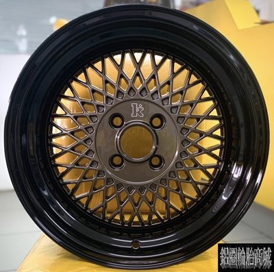 全新鋁圈 Klutch SL1 16吋 4孔100 8J 9J 古銅黑邊 超深唇 海拉風