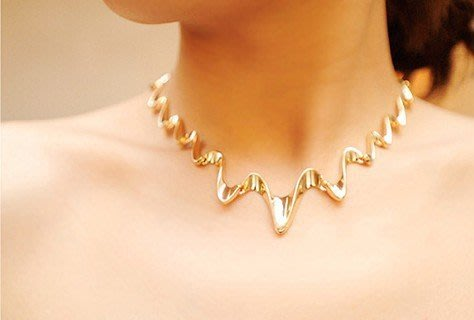 歐美閃電 頸圈 項鍊 女性精品設計 項鍊穿搭 首座美國