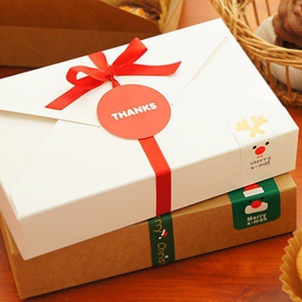 熱銷聖誕長方形素面牛皮紙滑面包裝紙盒【JC2116】《Jami Honey》