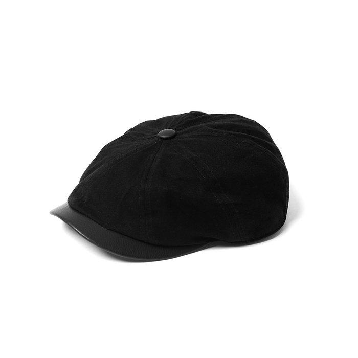 美國東村【Retrodandy】狩獵帽 Hunting Cap黑 咖啡(皮帽沿)