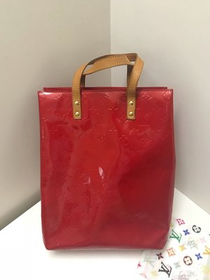 Louis Vuitton鮮紅色漆皮手提包