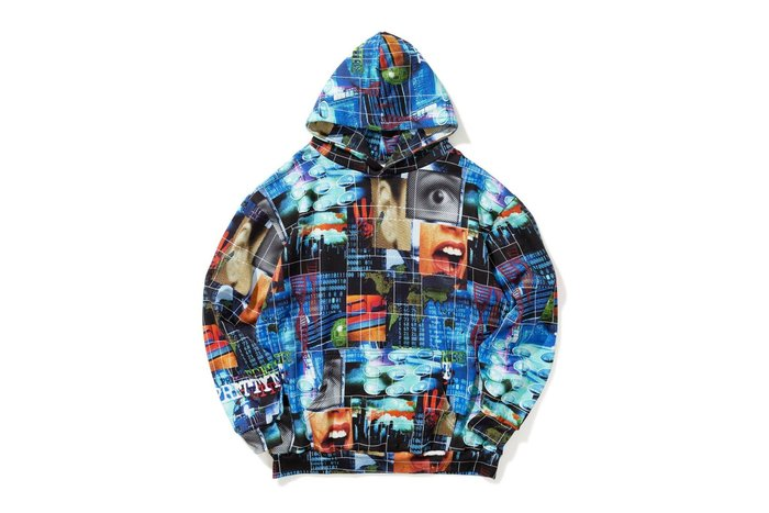 { POISON } PRETTYNICE LATE 90'S ALL OVER HOODIE 千禧年美學滿版帽TEE