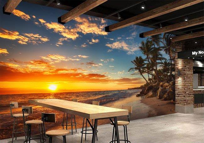 客製化壁貼 店面保障 編號F-705 陽光海景 壁紙 牆貼 牆紙 壁畫 背景牆 星瑞 shing ruei