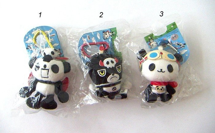 陽光一品~~ 熊貓軍團吊飾娃娃-(有五款/單個)~~收藏特價品
