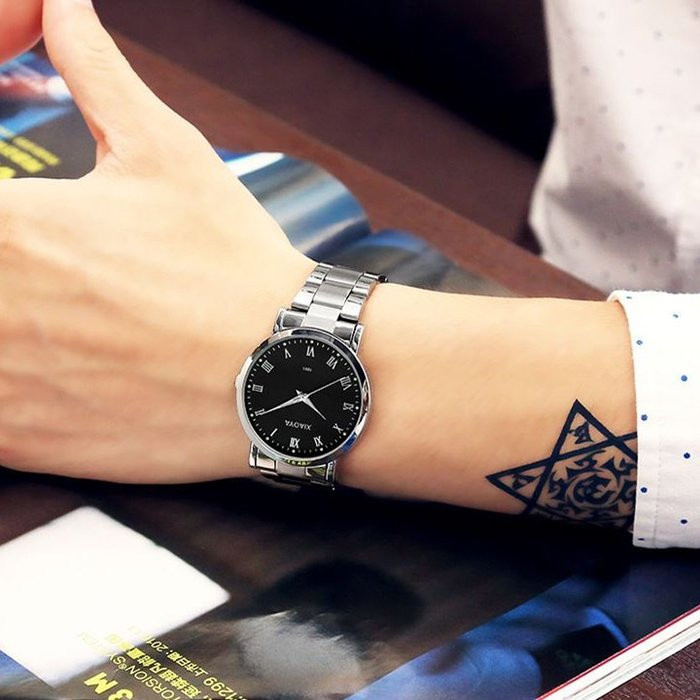 【雙十一鉅惠】手錶韓版時尚簡約潮流手錶男女士學生防水情侶女表休閒復古男表石英表