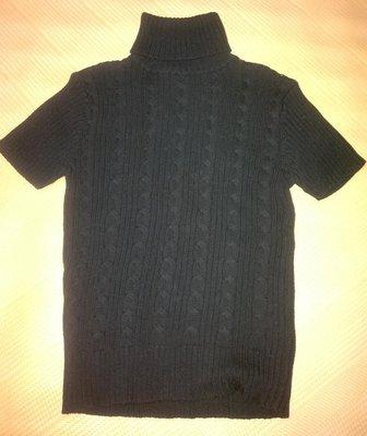【度?do】二手黑色短袖毛衣