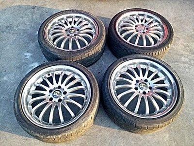賓士 Benz 18吋前後鋁圈+225/40/18 輪胎整組 W202 W210 W211 W203 W124 C300
