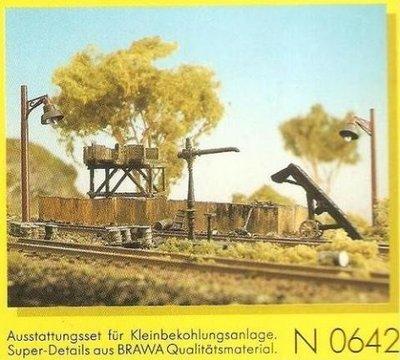 傑仲 博蘭 BRAWA 造景組 white metal kit Coaling and Watering N6042 N