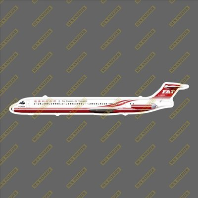遠東航空 MD-83 擬真民航機貼紙 防水 尺寸165MM