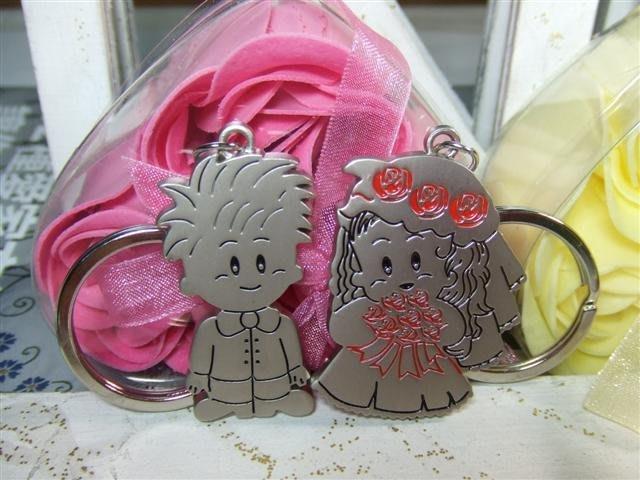 ☆創意小物店☆情侶鑰匙扣(新郎新娘) 鑰匙圈/創意可愛金屬鑰匙圈 時尚造型個性飾品