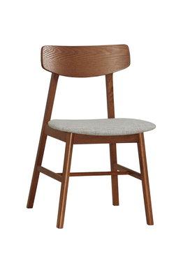 【生活家傢俱】CM-1060-12:胡桃色布餐椅【台中1600送到家】休閒椅 書桌椅 洽談椅 北歐風椅子 棉麻布+實木腳 台中市