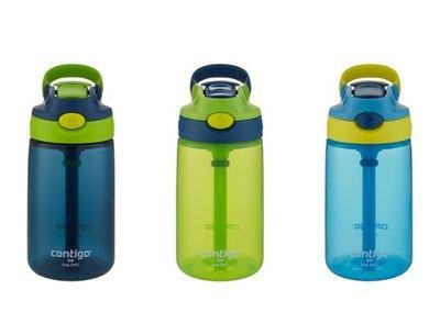 (3入組)Contigo Gizmo 防漏兒童吸管冷水瓶三件組 深藍+綠+淺藍/  /好市多代購