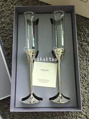 現貨英國正品Wedgwood verawang酒杯愛之結香檳杯對杯結婚(5190)