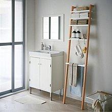 新款日式靠牆梯型置物架(濶40cm-$398包送貨)梯形隔板置物架臥室書架落地客廳衛生間實木