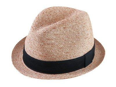 【二鹿帽飾】紳士軟籐. 女紳士帽-(邊翹尾紳士帽)黑色經典布帶/ MIT (外銷日本紳士帽/表演團體紳士帽)