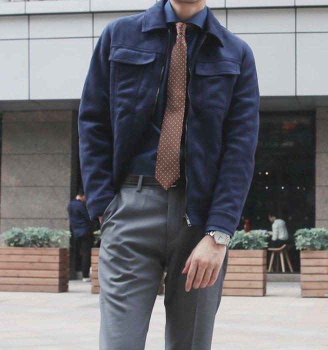 【NoComment】韓系休閒時尚 質感簡約 鹿絨皮素面修身夾克 五色