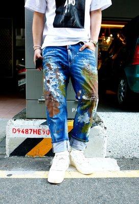 DSQUARED2 D2 21FW BIG BROTHER 義大利 潑漆 破壞 丹寧 牛仔褲 全新 現貨