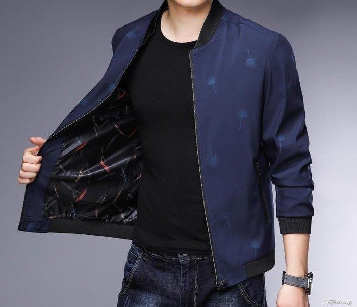 夾克外套 秋裝新款薄款外套中年男士夾克休閒上衣中老年男爸爸裝夾