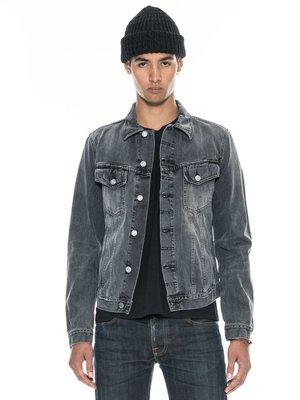 (預購商品) nudie BILLY DESOLATION GREY 灰色 刷白 合身 牛仔 丹寧 外套 夾克