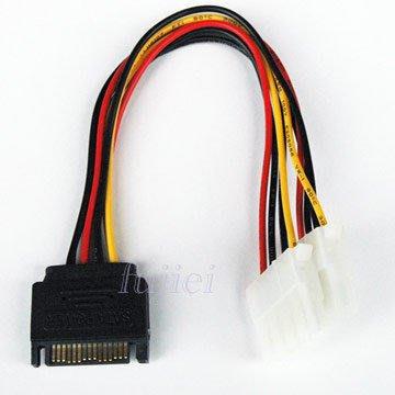 光華CUMA散熱精品*FJ ZA1029 SATA 轉 大4PIN x2 電源線 線長15CM~現貨