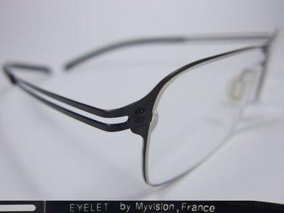 【信義計劃】全新真品 Eyelet 眼鏡 EL21 鏤空金屬方框 一體成型 超輕超越 Infinity Lindberg