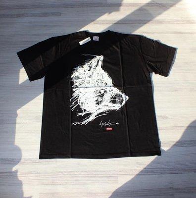 呱啦呱啦代購 美國潮牌supreme聯名款山本耀司Yohji Yamamoto 素描Scribble Wolf狼頭黑白短袖T恤高品質