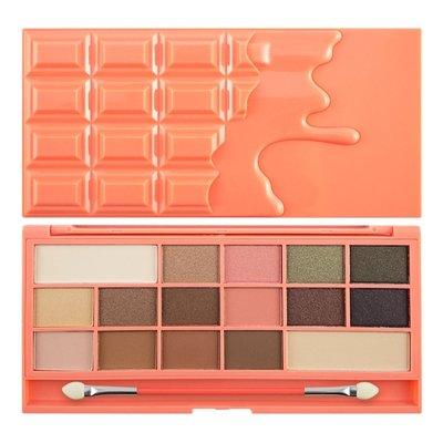 【愛來客】英國Makeup Revolution Chocolate and Peaches桃紅巧克力16色眼影盤