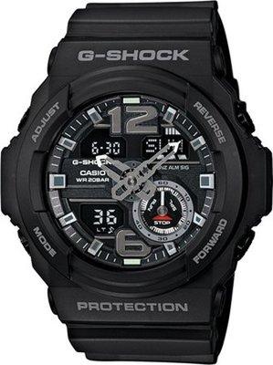 CASIO卡西歐 G-SHOCK 超人氣指針數位雙顯運動錶 黑色 GA-310-1ADR 台灣公司貨 全新品