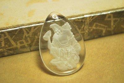 【東采藝術珠寶】 水晶濟公像 可串吊飾 首飾  二十年前的老件  LCR00094 水晶 可改變風水氣場