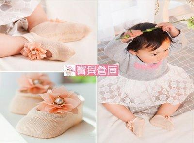寶貝倉庫-嬰兒鏤空蕾絲花朵蝴蝶網襪-寶...