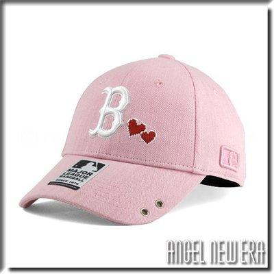 【ANGEL NEW ERA 】 MLB Old Fashioned Cap  紅襪 B 粉紅 粉 老帽  愛心 人字布